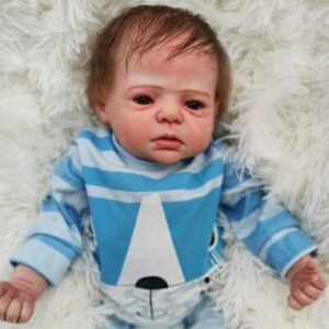 "Bard: 22"" Fussy Realistic-looking Newborn Baby Doll Boy - Kiss Reborn"