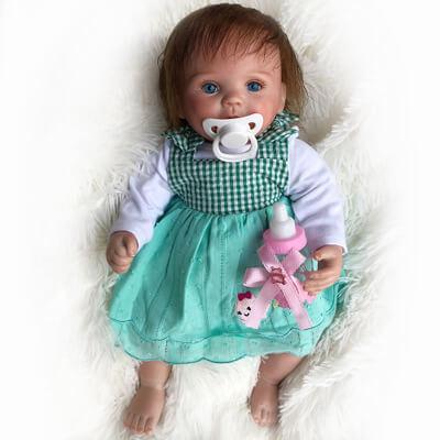 """Belinda: 15"""" Little Lovely Reborn Baby Doll Girl - Kiss Reborn"""