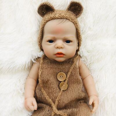 Benjamin: Deep Blue Eyes Gentle Newborn Doll Boy - Kiss Reborn