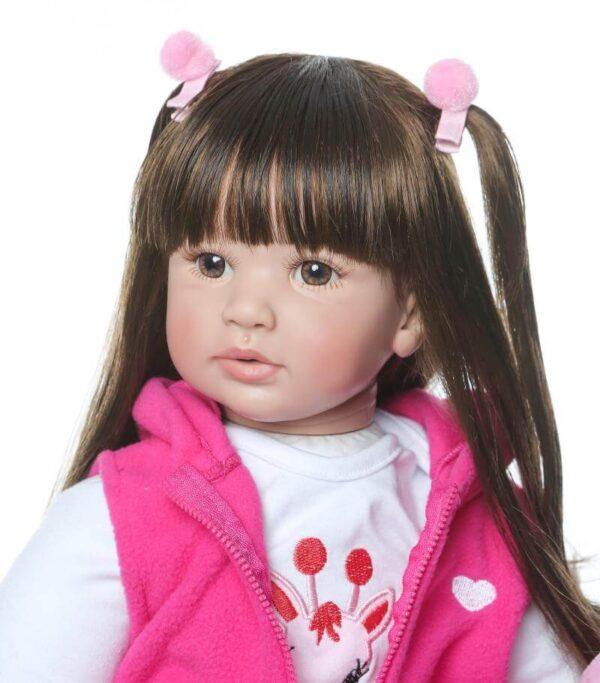 "22"" Long Hair Cloth Body Reborn Toddler Tina - Kiss Reborn"