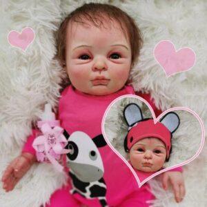 Catherine: Naughty Life-like Reborn Baby Doll Girl With Chubby Rosy Cheeks - Kiss Reborn