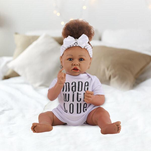 Cathy Big Eyes African American Reborn Baby Girl Toddler 10