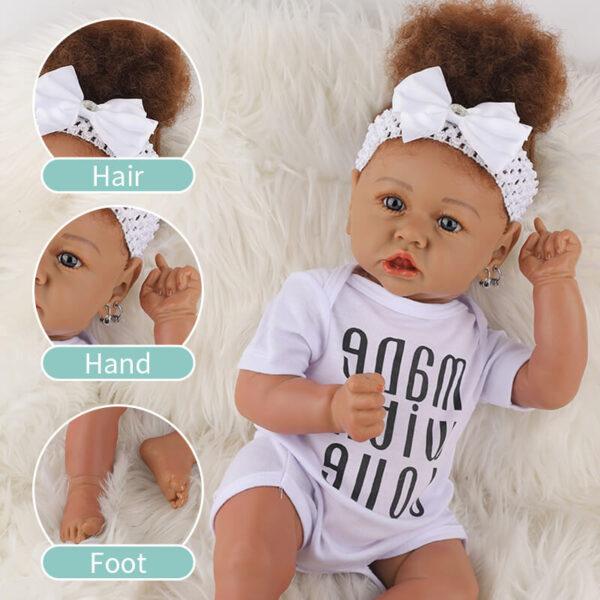 Cathy Big Eyes African American Reborn Baby Girl Toddler 11