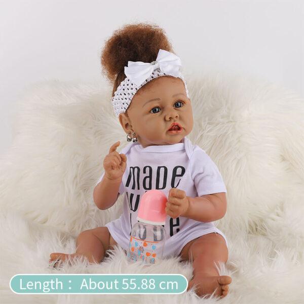 Cathy Big Eyes African American Reborn Baby Girl Toddler 13