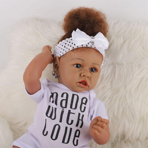 Cathy Big Eyes African American Reborn Baby Girl Toddler 14