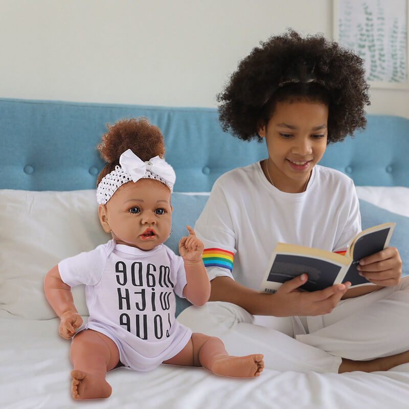 Cathy Big Eyes African American Reborn Baby Girl Toddler