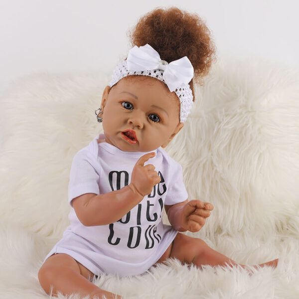 Cathy Big Eyes African American Reborn Baby Girl Toddler 8