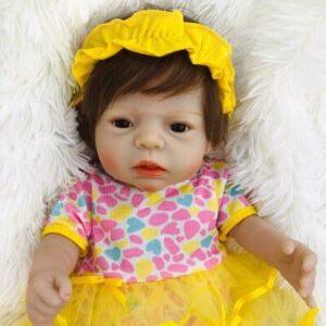Dana: Pretty Brown Eyes Reborn Toddler Doll Girl - Kiss Reborn