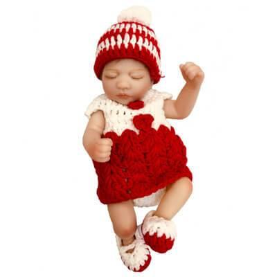 Fay: Ethnic Biracial Blonde Sleeping Baby Doll Girl - Kiss Reborn
