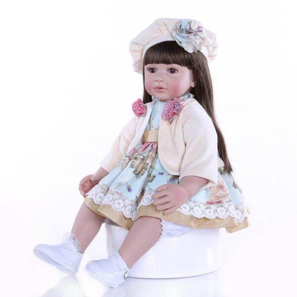 Flexible Silicone Vinyl Reborn Toddler Girl Elsa - Kiss Reborn