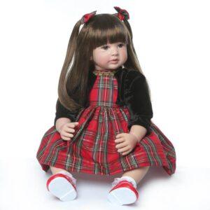 24'' Vinyl Silicone Head Lifelike Baby Reborn Princess Doll Aurora - Kiss Reborn