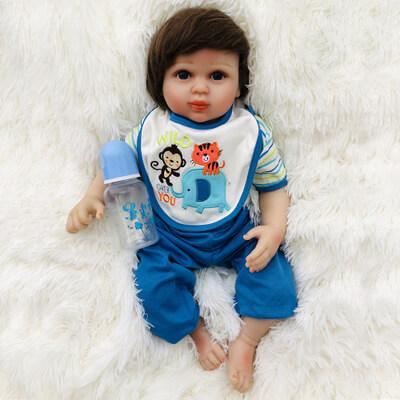 Gia: Big Black Eyes Real Touch Skin Reborn Baby Girl - Kiss Reborn