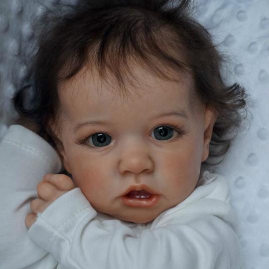 Alina: 22'' Lifelike Reborn Baby Doll Girl with Coos - Kiss Reborn