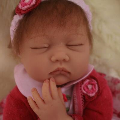 Lily: Sleeping Chuppy Face Reborn Baby Doll Girl - Kiss Reborn