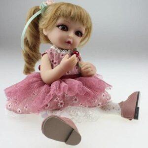 Pink Skirt Mini BJD Doll Mia - Kiss Reborn
