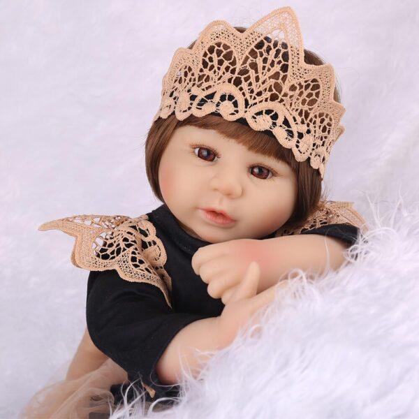 "Monique: 22"" Little Princess Realistic Toddler Girl Doll - Kiss Reborn"
