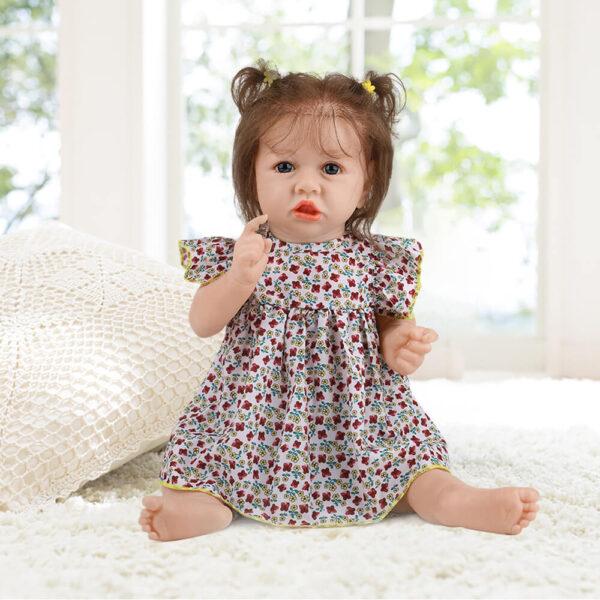 18 Inch Fashion Short Hair Lifelike Reborn Baby Doll with Big Eyes 1