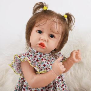 22.8 Inch Fashion Short Hair Lifelike Reborn Baby Doll with Big Eyes