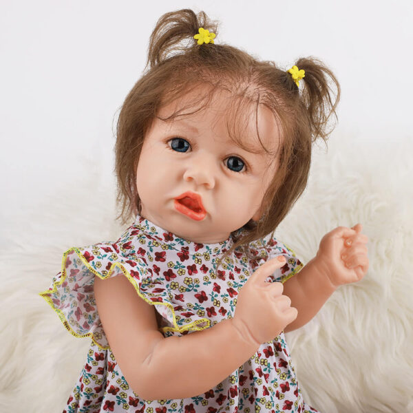 18 Inch Fashion Short Hair Lifelike Reborn Baby Doll with Big Eyes 2