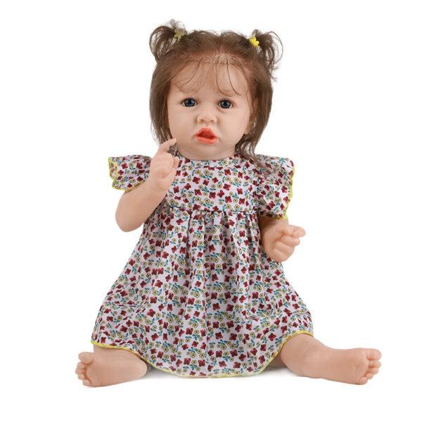 18 Inch Fashion Short Hair Lifelike Reborn Baby Doll with Big Eyes 5