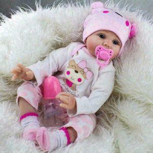 22 Handmade Vinyl Lifelike Reborn Baby Girl Doll 1