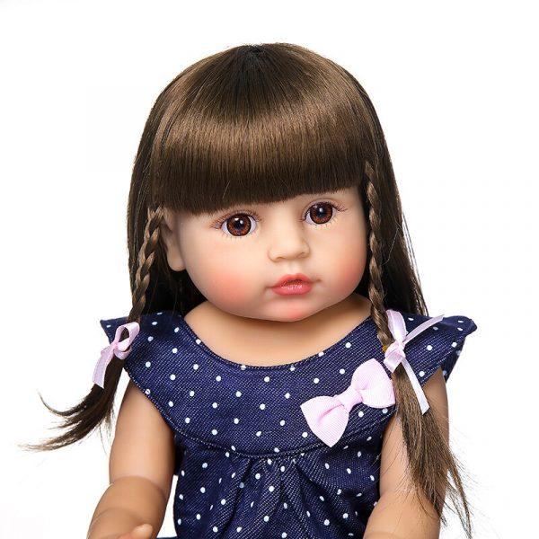 55CM original NPK reborn baby toddler gir very soft full body silicone doll bath toy 3