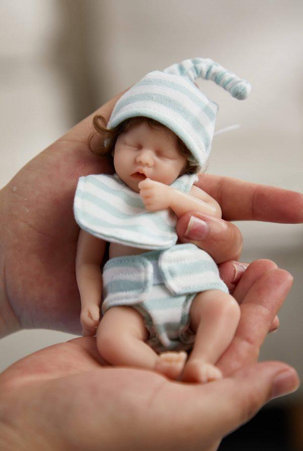 6 inches full silicone mini reborn baby doll 3